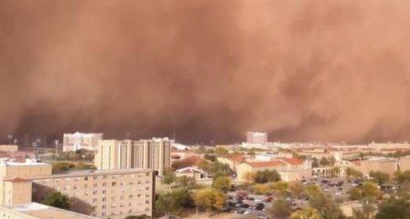 Техас пострадал от сильной песчаной бури