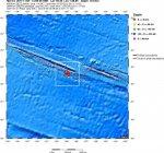 Землетрясение силой 6,2 на Южно-Тихоокеанском хребте