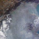 Загрязнение воздуха в Китае видно из космоса