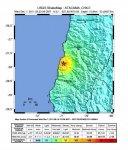 В пустыне Атакама зафиксировано землетрясение в 6.1 балла