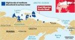 Повышенный уровень метана в Арктике