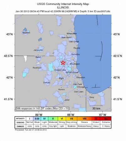 История с продолжением: ядерное событие и землетрясения недалеко от Чикаго