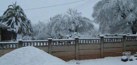 Настоящая снежная зима в Южной Африке