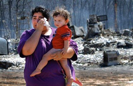 Последствия лесных пожаров в Оклахоме