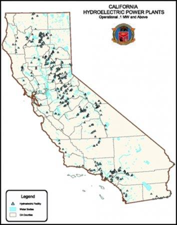Изменение климата угрожает гидроэнергетике Калифорнии