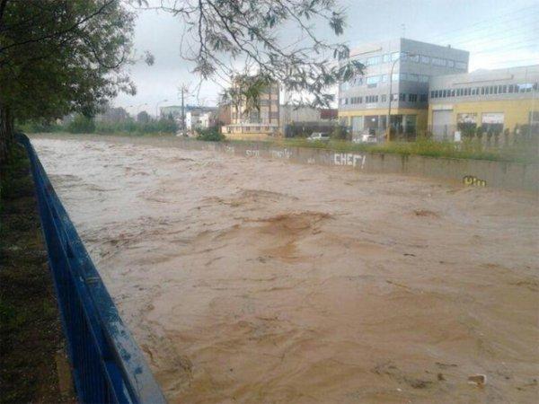 Испанская Малага снова во власти наводнения