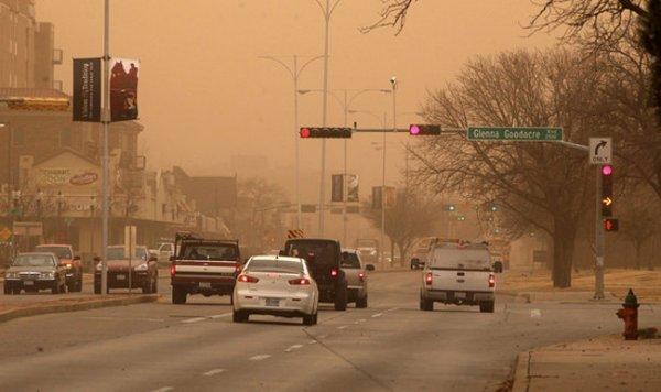 В Техасе произошла пылевая буря