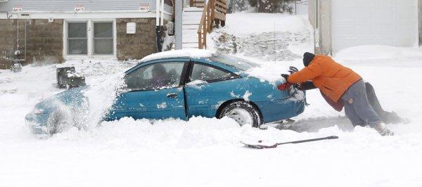 Снежная буря ударила по Среднему Западу США