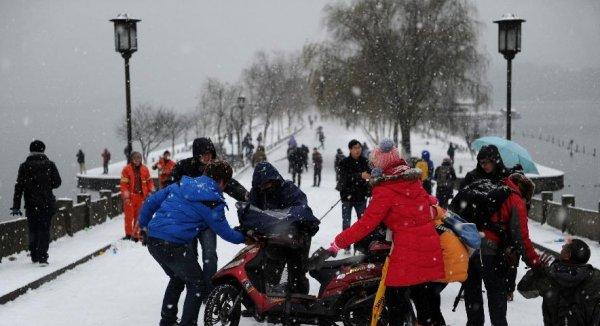 В Китае побит зимний рекорд температур