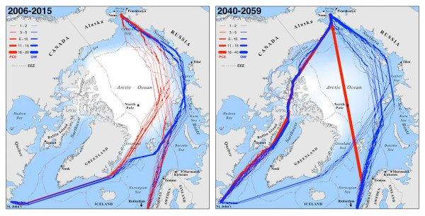 К 2050 году корабли смогут беспрепятственно пересекать северный полюс