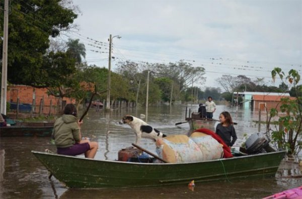 Земли Парагвая охвачены наводнением
