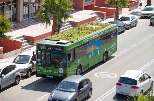 Каменные джунгли будут озеленять посредством автобусов