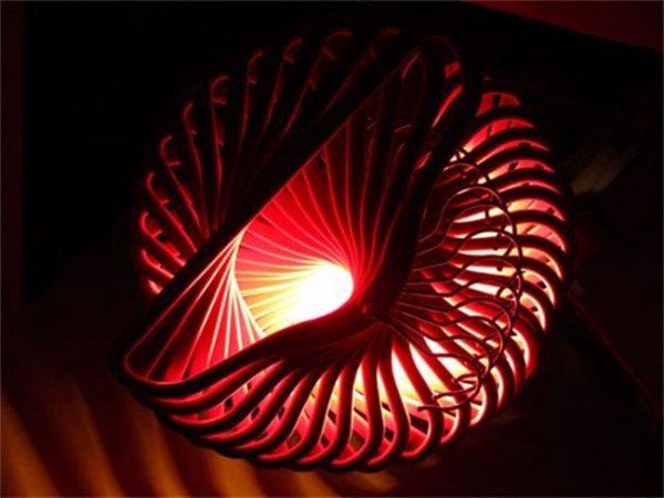 Экоинтерьер: как изготовить пушистые светильники