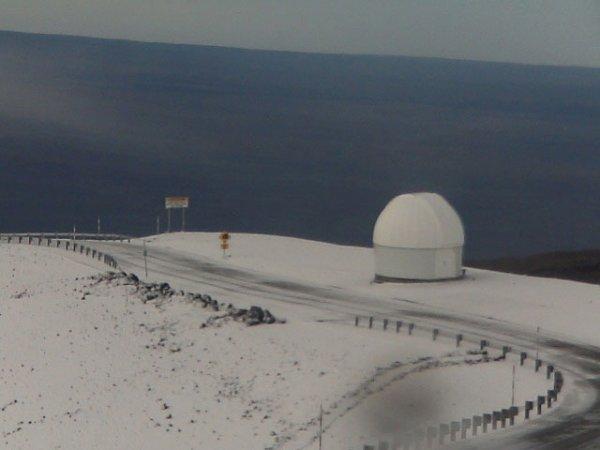 На гавайских островах выпал предновогодний снег