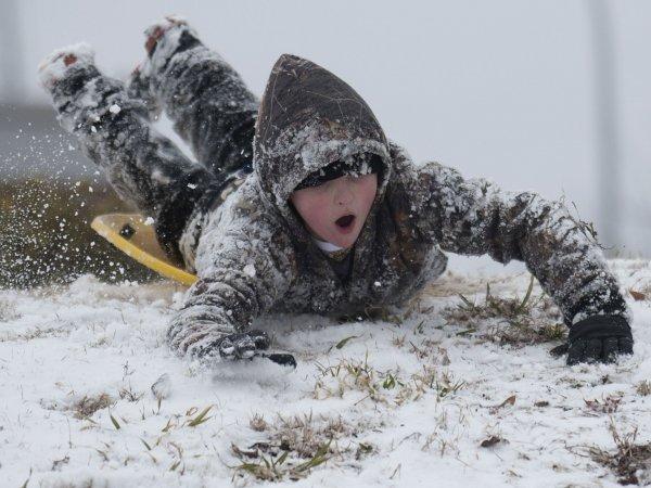 Юго-восток США встретился с невероятной снежной бурей