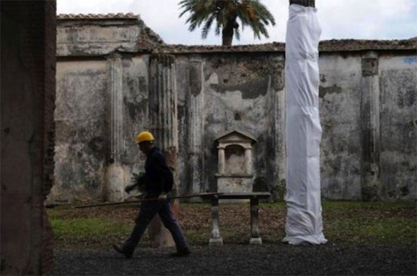 Ливни разрушили еще одну стену в г. Помпеи