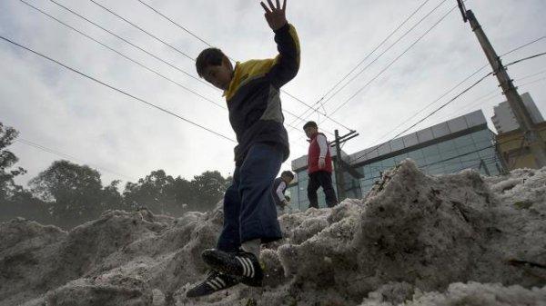 В мексиканском штате Пуэбла выпали рекордные объемы града