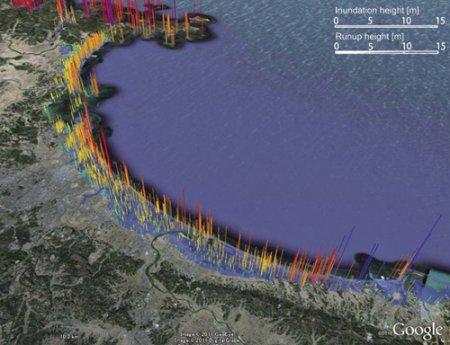 Большое землетрясение в районе Тохоку затронуло верхнюю атмосферу раньше чем Землю