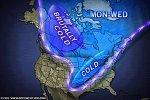 В северной части Северной Америки формируются холодные воздушные массы